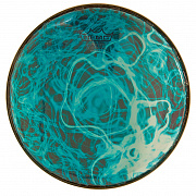 REMO BD-0010-00-SC018 Doumbek Drumhead, R Series, SKYNDEEP® Clear Tone, 10` Diameter, 1/2` Collar, Wide Hoop, `Turquoise Mist` Graphic